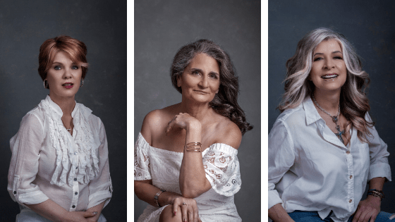 a finished photoimagery of happy women with great pose